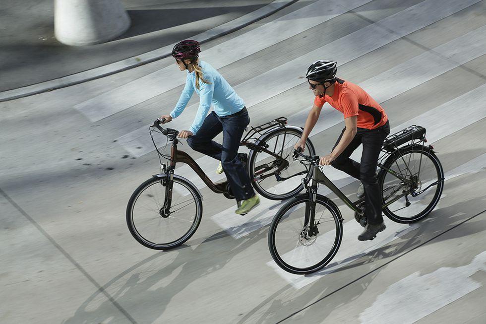 E-bikes road