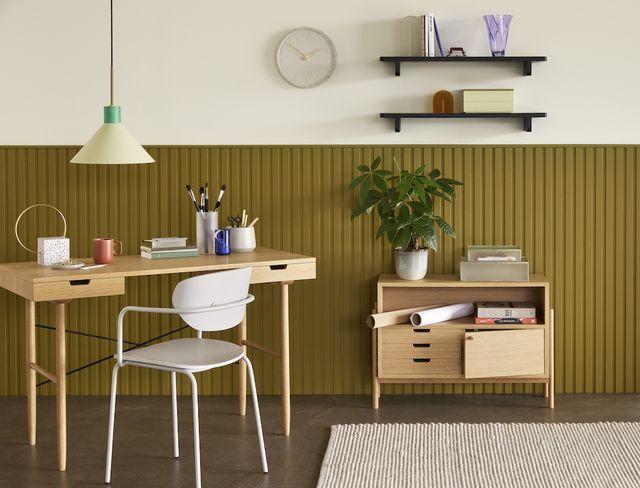eikenhouten bureau van hübsch