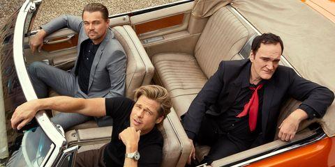 Resultado de imagen para Quentin Tarantino, Brad Pitt y Leonardo Di Caprio