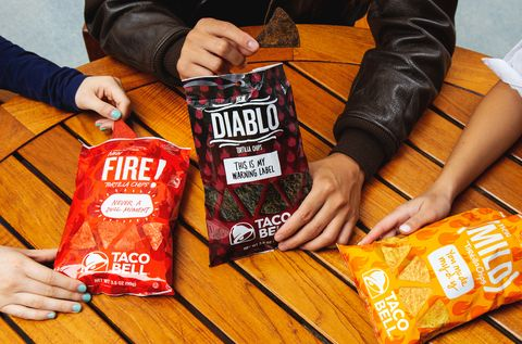 Taco Bell Mild Fire Tortilla Chips