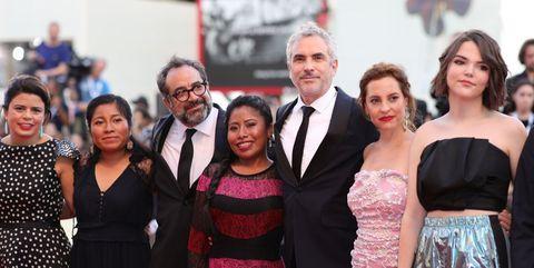 (右から3人目)アルフォンソ・キュアロン(Alfonso Cuaron)