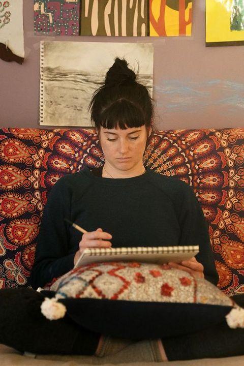 Textile, Furniture, Room, Sitting, Art,