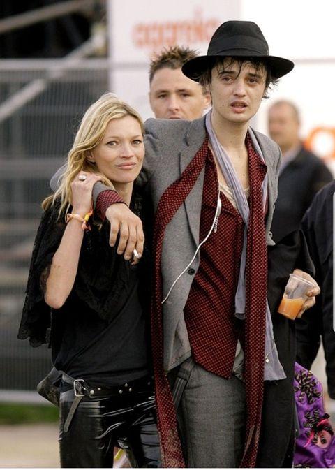 Kate Moss e Pete Doherty a un concerto
