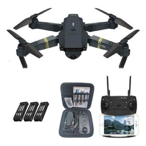 e58 drone met camera   fly more combo   2 extra accu's en opbergtas
