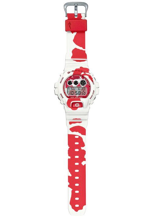紅白色的手錶
