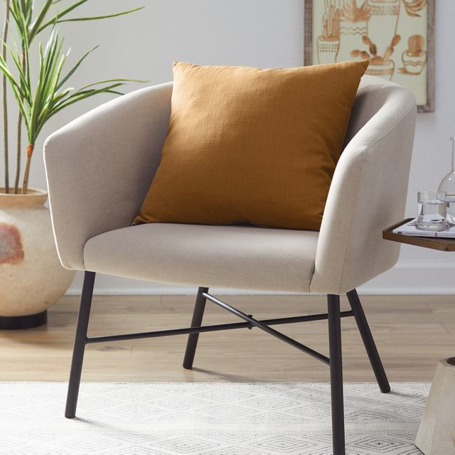 Furniture, Chair, Living room, Interior design, Room, Couch, Armrest, Table, Club chair, Slipcover,