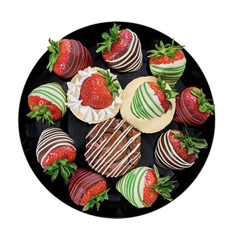 santa's bakeshop platter for edible arrangements