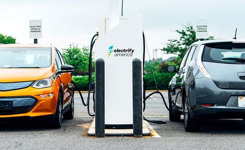 VW Puts EV Fast Chargers At Walmart Stores News Car And Driver