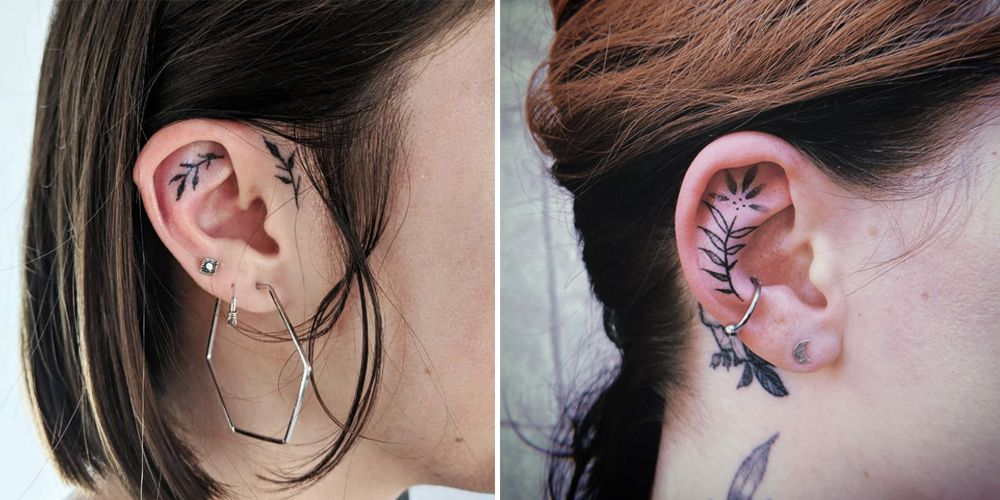 Instagram is Obsessed With Vine Ear Tattoos – And You'll Want to Get One Too