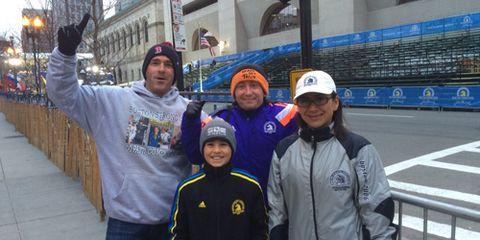 Early spectators 2015 Boston