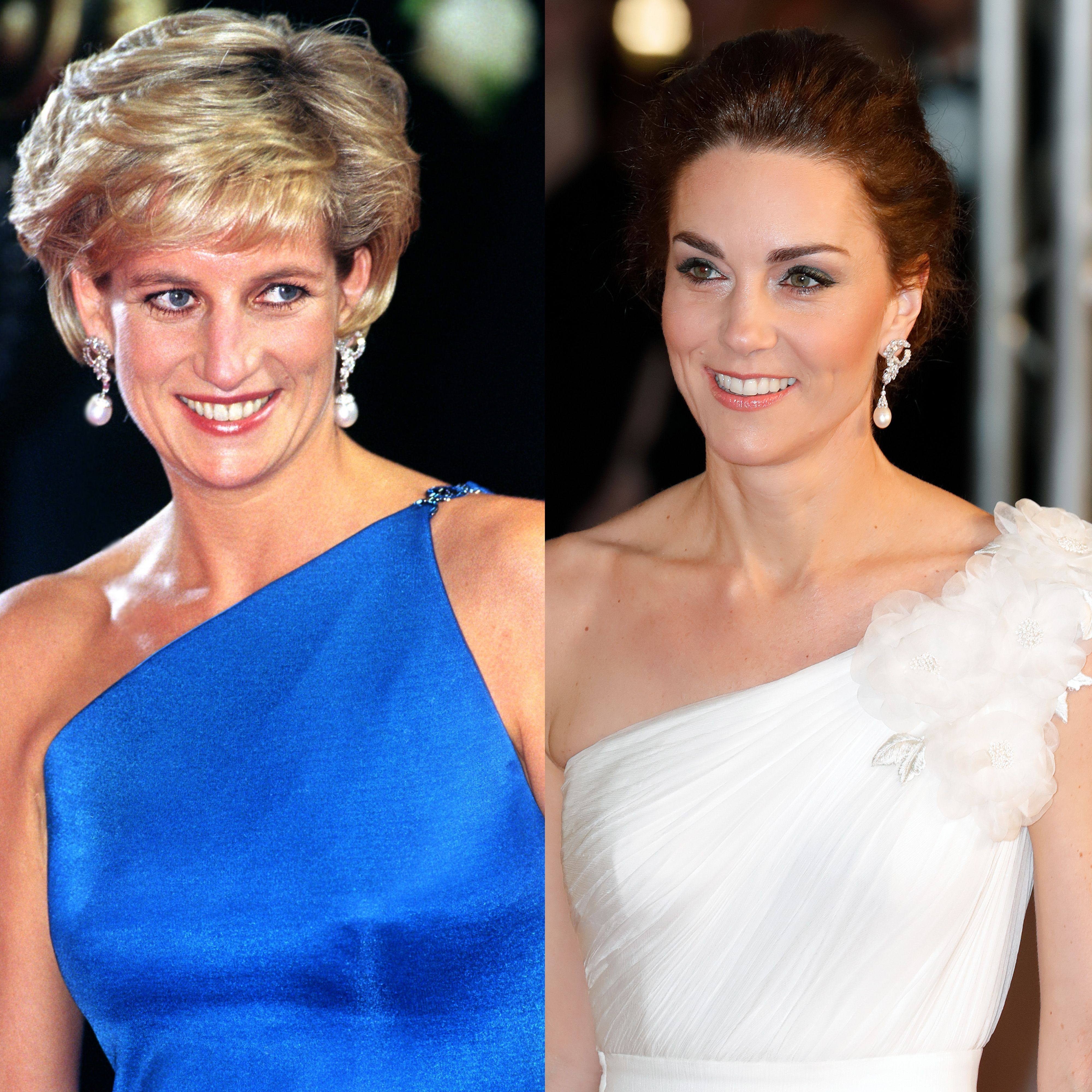 kate middleton wearing princess diana s jewelry kate inherited diana s engagement ring earrings town country magazine
