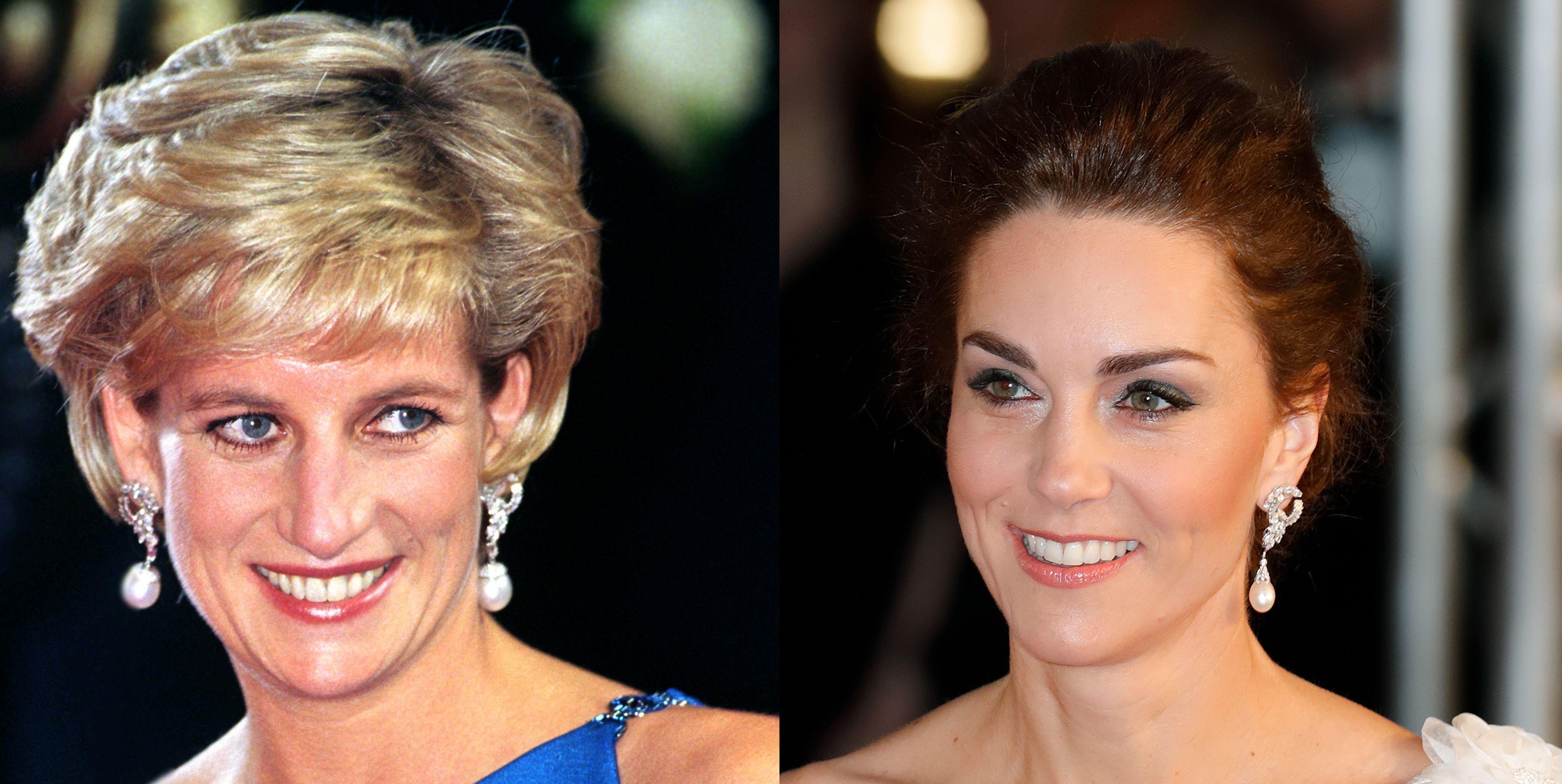 kate middleton princess diana inherited jewelry