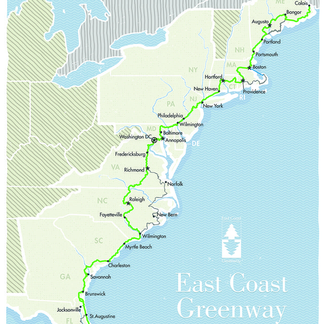 east coast greenway trail