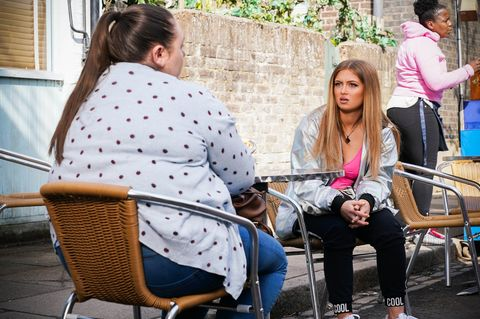 embargo 13072021 bernie taylor and tiffany butcher baker in eastenders