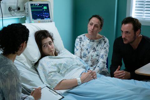 Bex Fowler in hospital in EastEnders