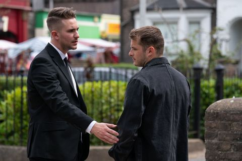 Callum Highway asks Ben Mitchell on a date in EastEnders