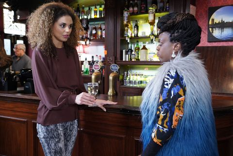 Chantelle Baker tries to make peace with Kim Fox in EastEnders