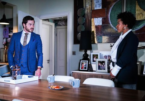 gray atkins and laura awoyinka in eastenders