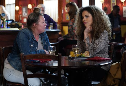Karen Taylor and Chantelle Atkins bond in EastEnders