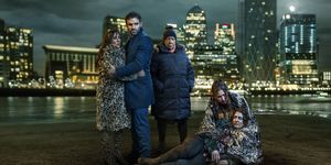Kat Slater, Kush Kazemi, Mo Harris, Dotty Cotton and Bex Fowler in EastEnders