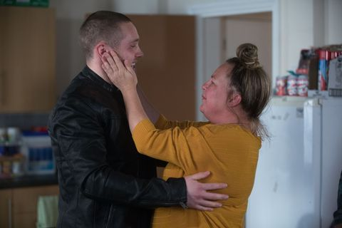 Karen Taylor welcomes Keanu back in EastEnders