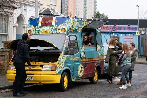 Keegan Baker and Iqra Ahmed have a new van in EastEnders