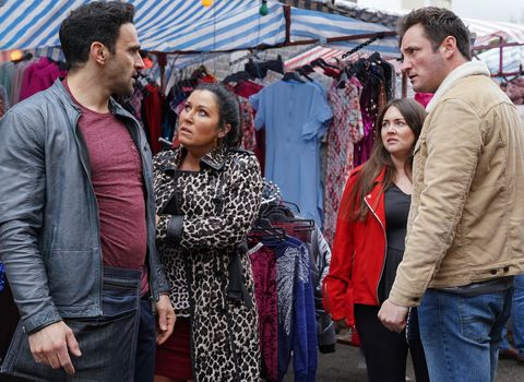 Kush Kazemi and Martin Fowler clash in EastEnders