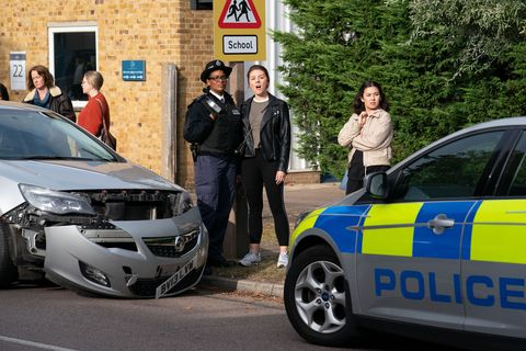 Linda Carter is arrested in EastEnders