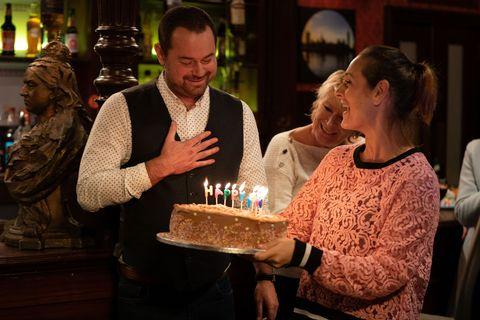 Mick Carter's birthday party in EastEnders