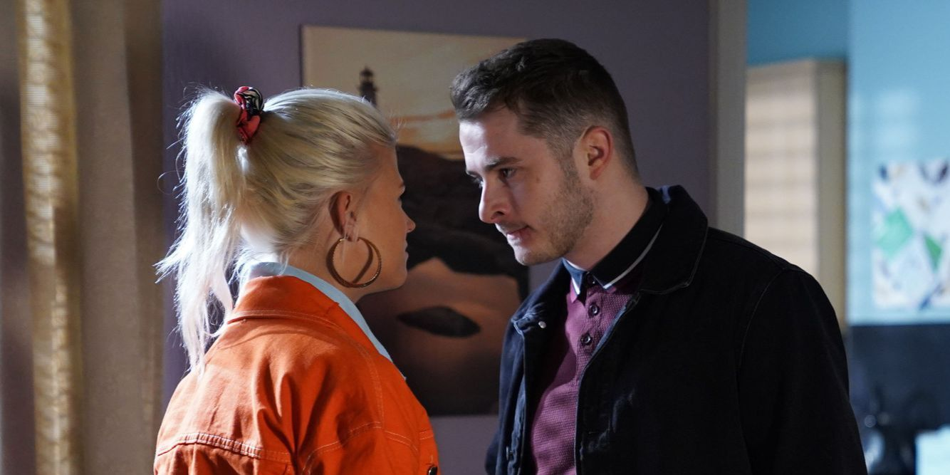 Lola Pearce and Ben Mitchell argue in EastEnders