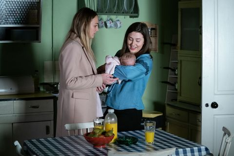 Louise Mitchell and Bex Fowler in EastEnders