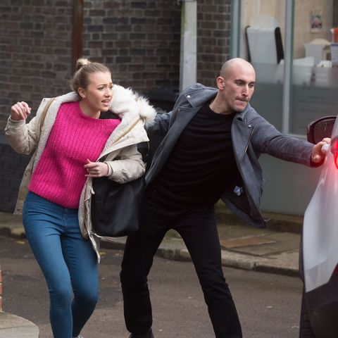 EastEnders reveals Louise Mitchell's kidnap horror in new pictures