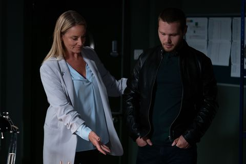 Mel Owen and Keanu Taylor in EastEnders
