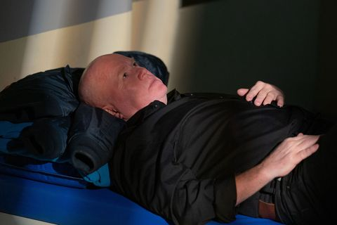 Phil Mitchell in a police cell in EastEnders