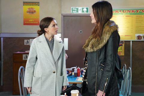 Ruby Allen and Michaela Turnbull in EastEnders