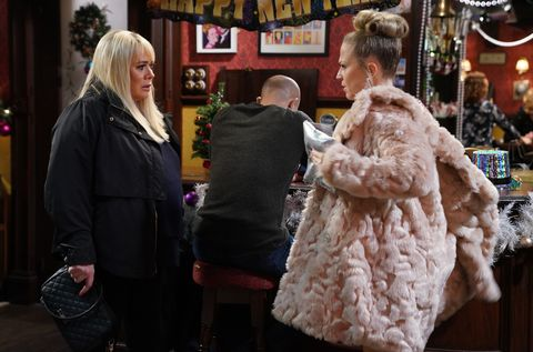 Sharon Mitchell and Linda Carter in EastEnders