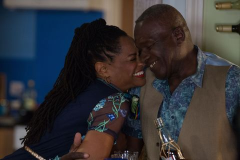 Sheree makes herself at home with Patrick Trueman in EastEnders
