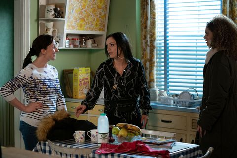 Sonia Fowler, Whitney Dean and Chantelle Atkins in EastEnders