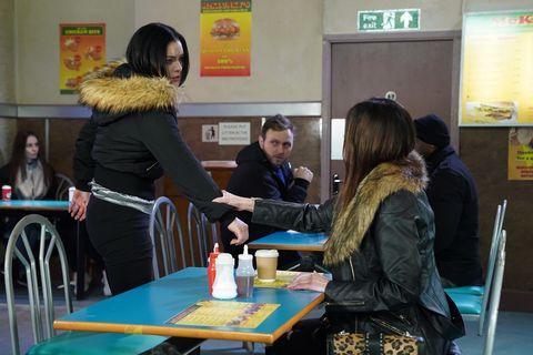 Whitney Dean and Michaela Turnbull in EastEnders