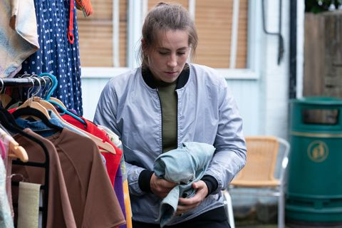 A young girl steals from Whitney Dean in EastEnders