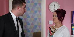 Callum Highway and Whitney Dean argue in EastEnders