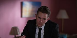 Callum Highway struggles to write his wedding vows in EastEnders