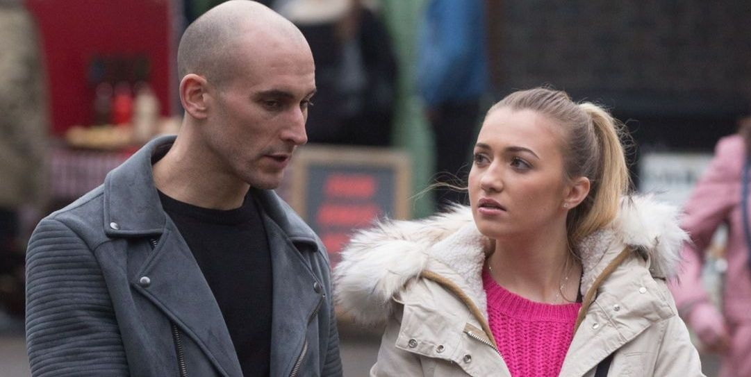 Midge with Louise Mitchell in EastEnders