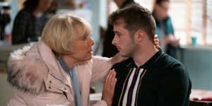 Pam Coker and Ben Mitchell in EastEnders