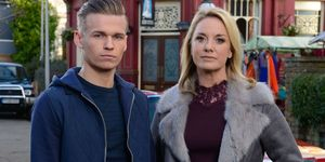 Charlie Winter and Tamzin Outhwaite as Hunter and Mel Owen in EastEnders