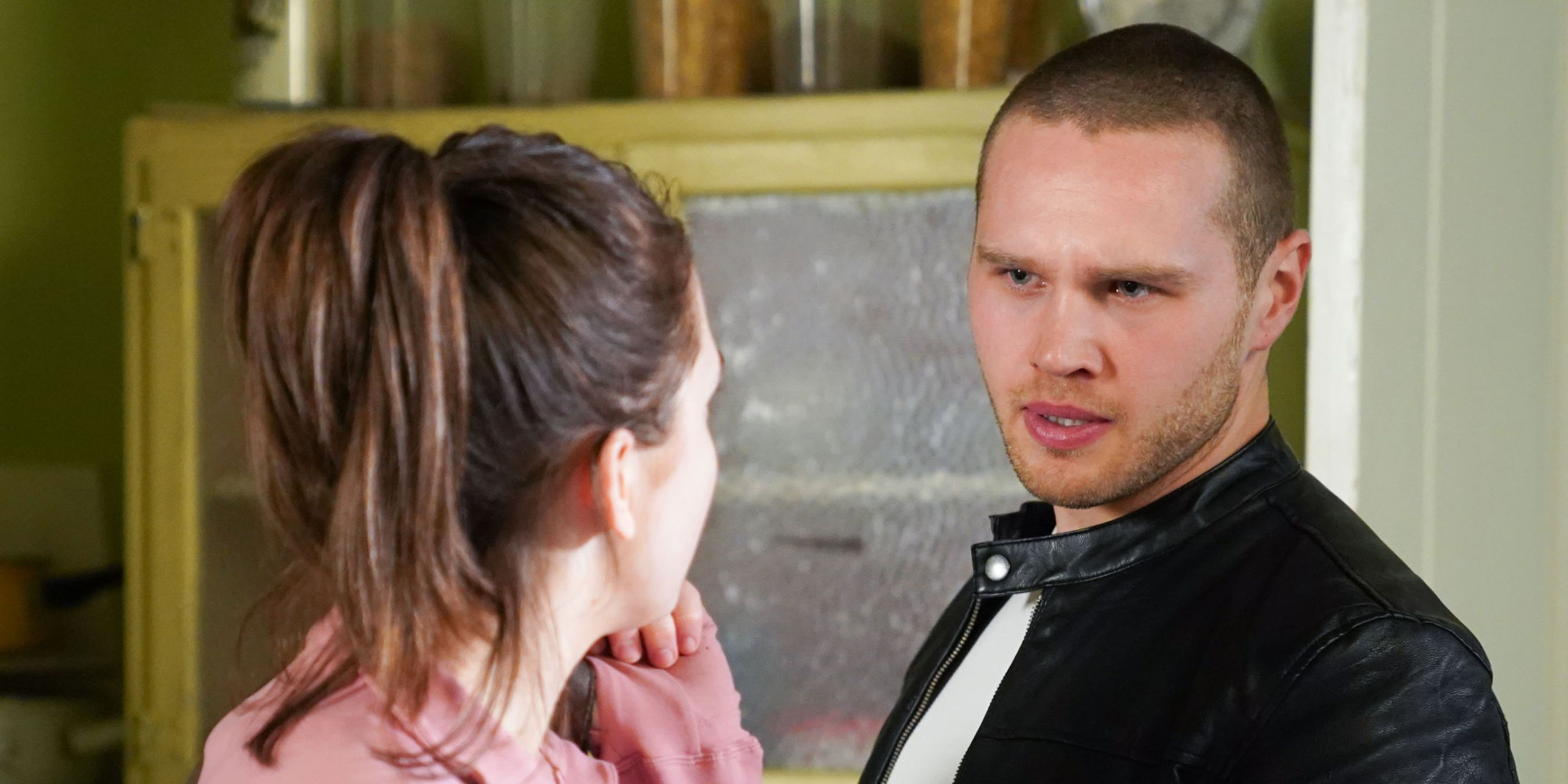 Keanu Taylor confronts Bex Fowler in EastEnders