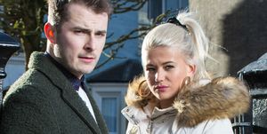 Max Bowden and Danielle Harold as Ben Mitchell and Lola Pearce in EastEnders
