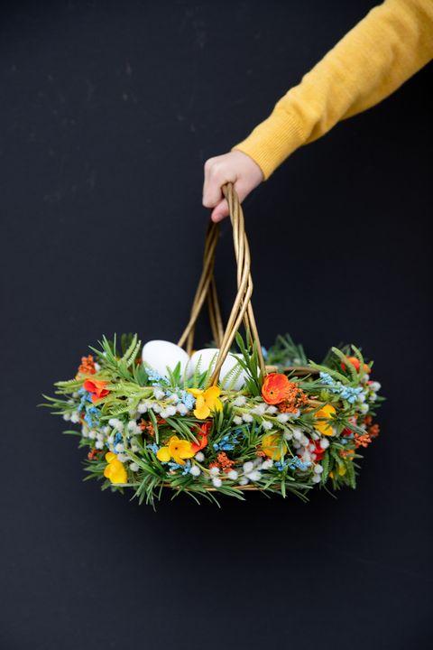 floral easter basket