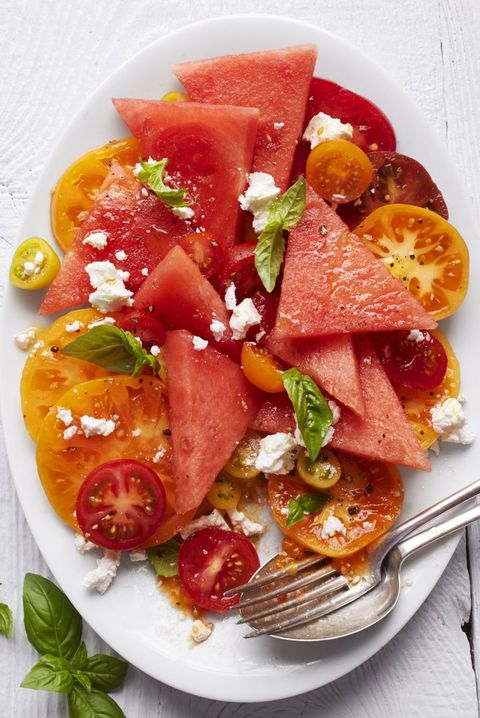 easter appetizers tomato watermelon salad
