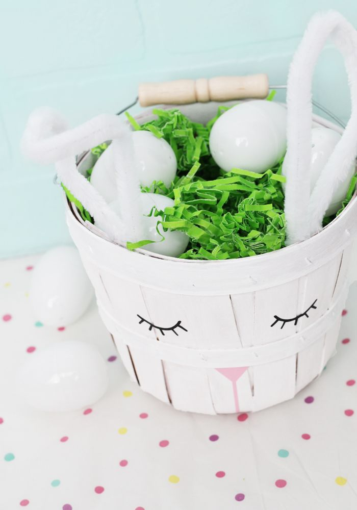 how to make an easter bunny basket
